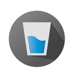Glass icon on a dark background glassware symbol vector