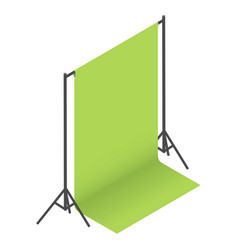 green screen backdrop background on racks in vector image
