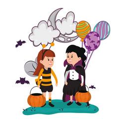 Halloween kids cartoons vector