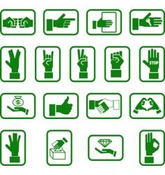 Hands icon set vector