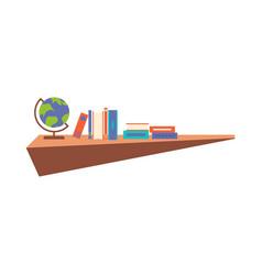 hanging book shelf flat design vector image