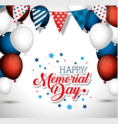 happy memorial day celebration vector image