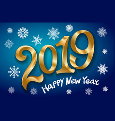 Happy new year 2019 greeting card two thousand vector