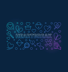heartbreak colorful outline or vector image
