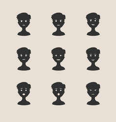 human emotions collection vector image