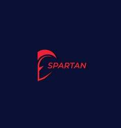 Logo with spartan warrior vector