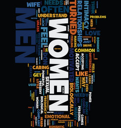 men women and sex text background word cloud vector image