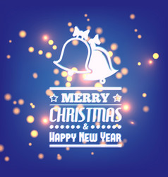 merry christmass and happy new year postcard vector image