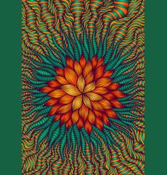 motley fantastic decorative flower colorful vector image
