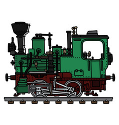 old green small steam locomotive vector image