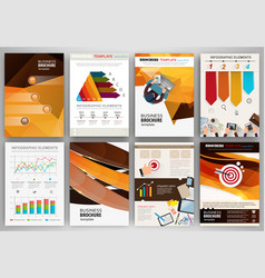 orange and brown backgrounds abstract concept vector image