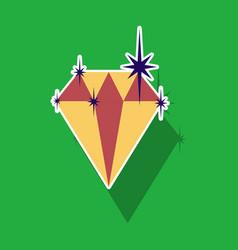 Paper sticker on theme arabic business precious vector