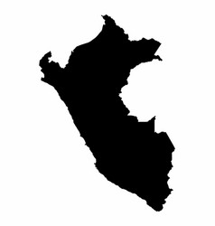 peru map dark silhouette vector image