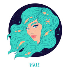 Pisces astrological sign as a vector