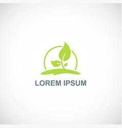 Plant green botany logo vector