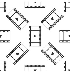 play video seamless pattern film strip with play vector image
