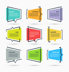 quote speech bubbles set vector image