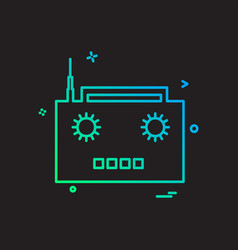 radio icon design vector image