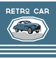 Retro car old vintage poster vector