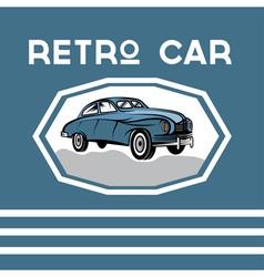 retro car old vintage poster vector image