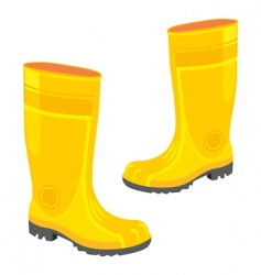 Rubber boots vector