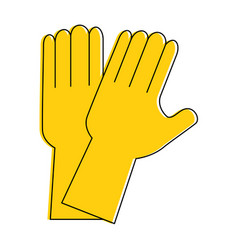 rubber gloves cleaning icon vector image