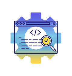 seo audit color icon vector image