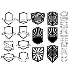 set empty emblems design element for logo vector image