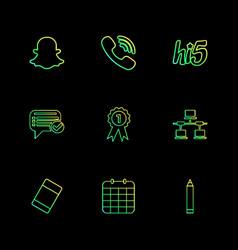 Snapchat viber hi5 message badge network vector