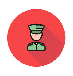 soldier icon on white background vector image