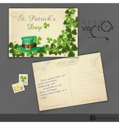 St Patricks Day Background With Leprechaun Hat vector image