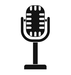 studio microphone icon simple style vector image