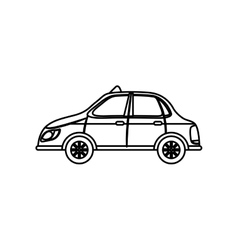Taxi cab transport vector