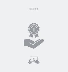 Top rating award - minimal modern icon vector