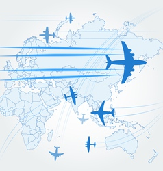 Transport and civil airplanes paths vector