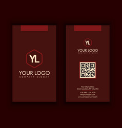 vertical modern creative and clean business card vector image