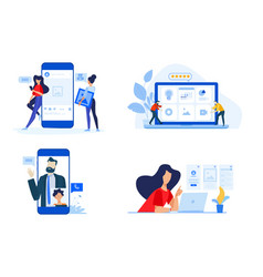 Video call and networking vector