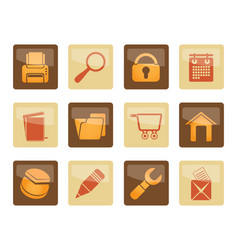 website internet and computer icons vector image