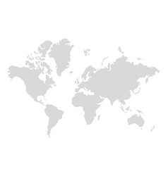 World map silhouette digital simple map in flat vector
