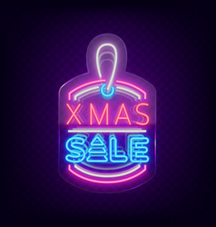 xmas sale christmas discount poster flyer card vector image