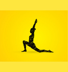 yoga posing sport woman graphic vector image