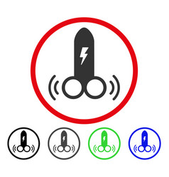 Electric vibro dildo rounded icon vector