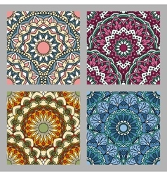 Set of Seamless oriental pattern vector image vector image