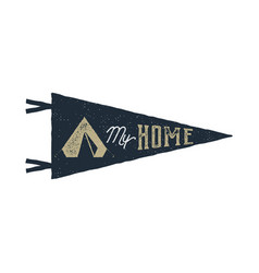 vintage hand drawn pennant template tent is my vector image vector image