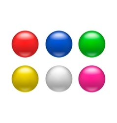Colorful glossy badges magnets icon vector image