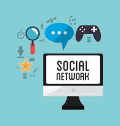 computer social network game chat vector image