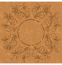 old pattern - dark vintage background vector image