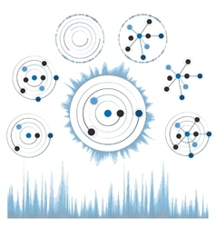 Abstract network with circles eps10 vector image vector image