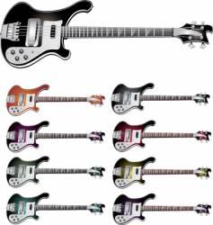 bass guitar vector image vector image