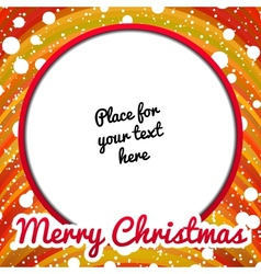 Christmas frame with place for text vector image vector image